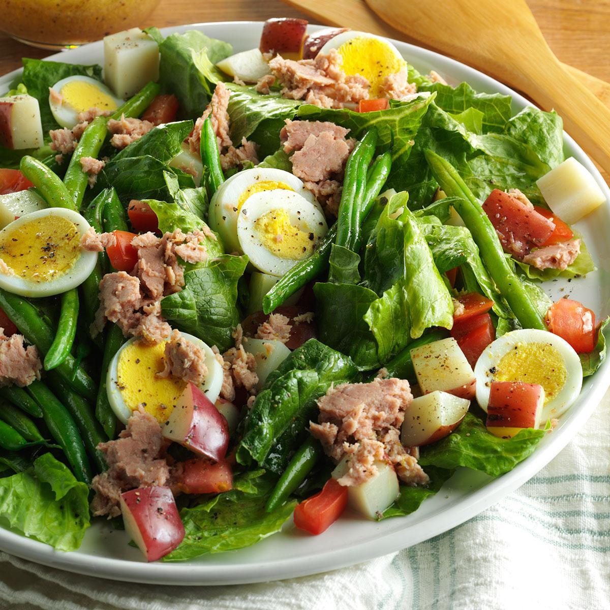 Быстрый французский салат Нисуаз