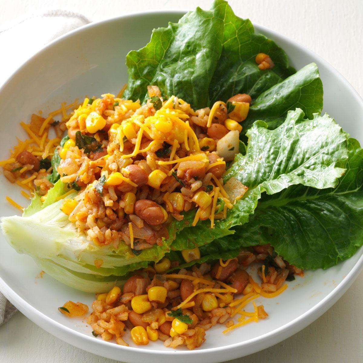 Теплый салат с рисом и красной фасолью2