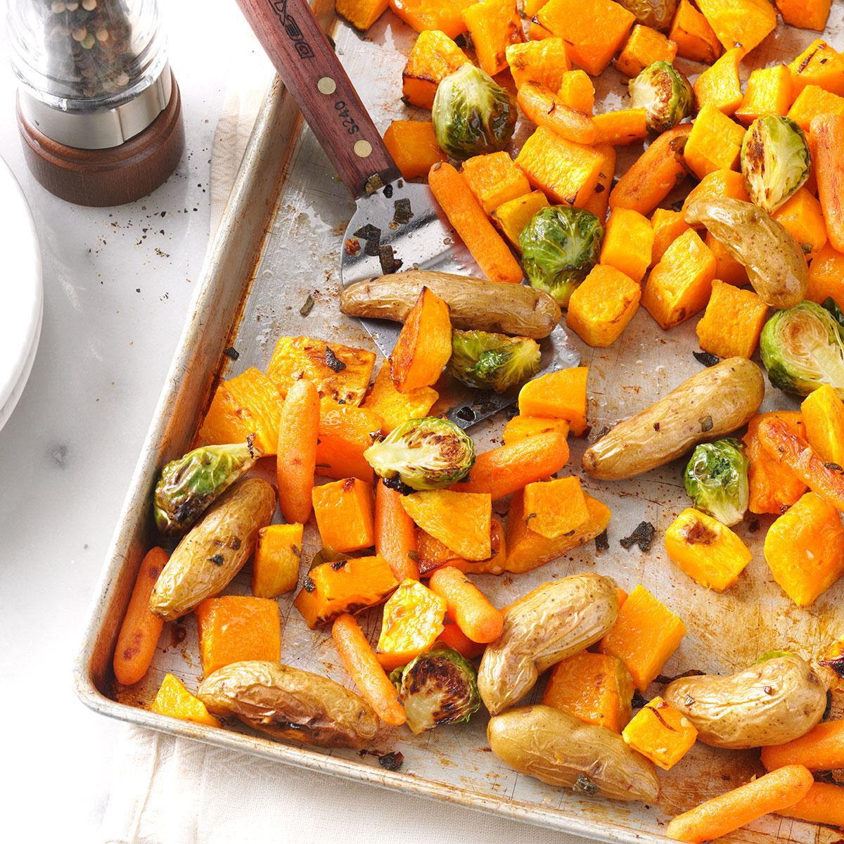 Жареные овощи с шалфеем