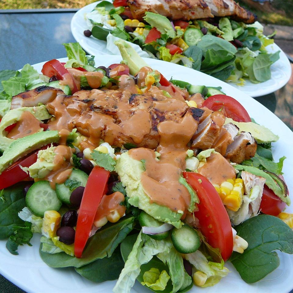 Калифорнийский салат с курицей